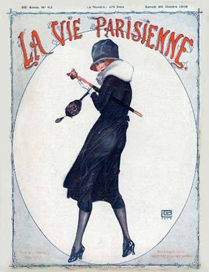 La Vie Parisienne 1918 Octobre Georges Leonnec Sex Appeal   Sex Appeal Vintage Ads and Covers 1891-1970