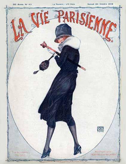 La Vie Parisienne 1918 Octobre Georges Leonnec | La Vie Parisienne Erotic Magazine Covers 1910-1939