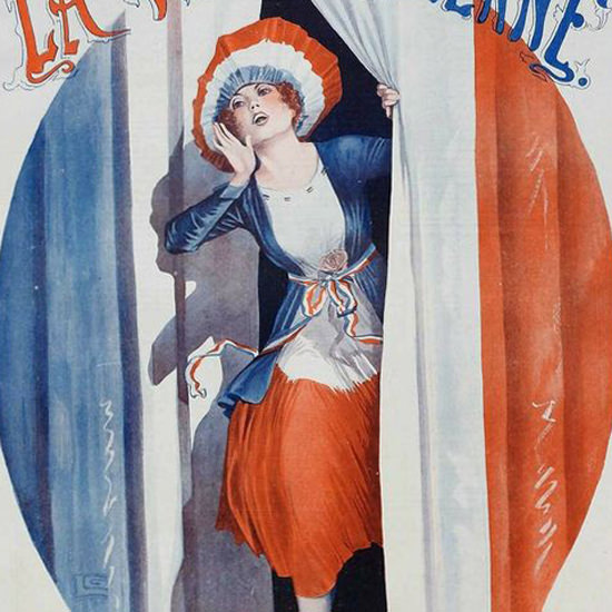 La Vie Parisienne 1918 On Les A Eus Georges Leonnec crop | Best of Vintage Cover Art 1900-1970