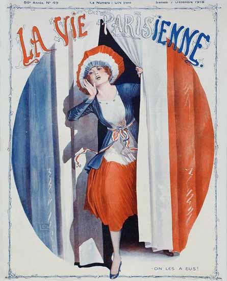 La Vie Parisienne 1918 On Les A Eus Sex Appeal | Sex Appeal Vintage Ads and Covers 1891-1970