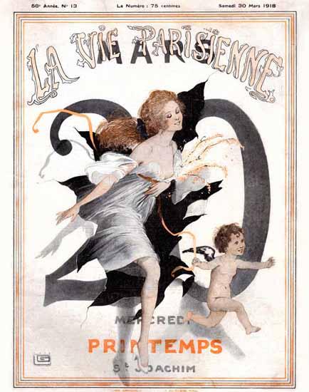 La Vie Parisienne 1918 Printemps Georges Leonnec | La Vie Parisienne Erotic Magazine Covers 1910-1939