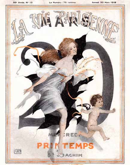 La Vie Parisienne 1918 Printemps Sex Appeal | Sex Appeal Vintage Ads and Covers 1891-1970