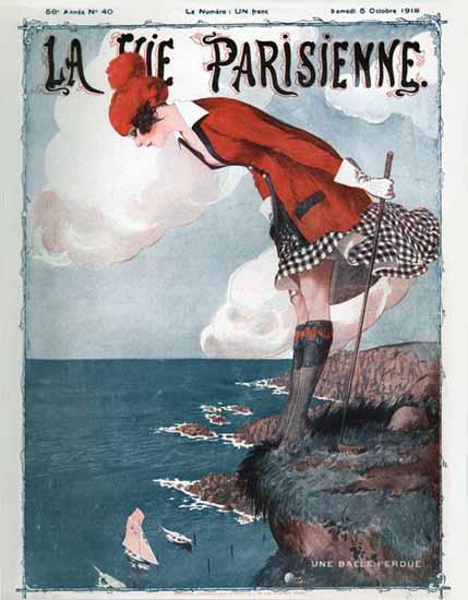 La Vie Parisienne 1918 Une Balle Perdue | La Vie Parisienne Erotic Magazine Covers 1910-1939