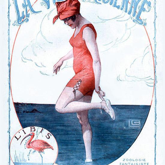 La Vie Parisienne 1918 Zoologie Fantaisiste Georges Leonnec crop | Best of Vintage Cover Art 1900-1970