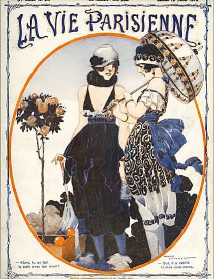 La Vie Parisienne 1919 Alors Tu As Fait La Paix Rene Vincent | La Vie Parisienne Erotic Magazine Covers 1910-1939