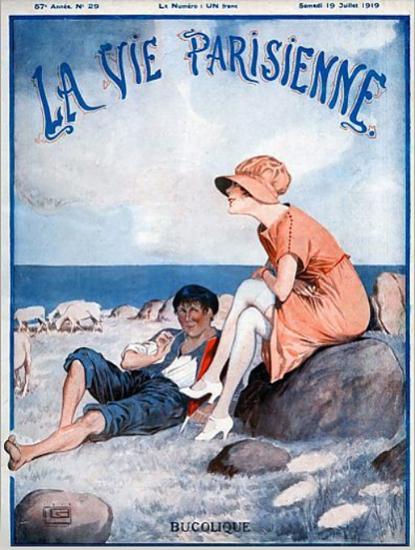 La Vie Parisienne 1919 Bucolique Georges Leonnec | La Vie Parisienne Erotic Magazine Covers 1910-1939