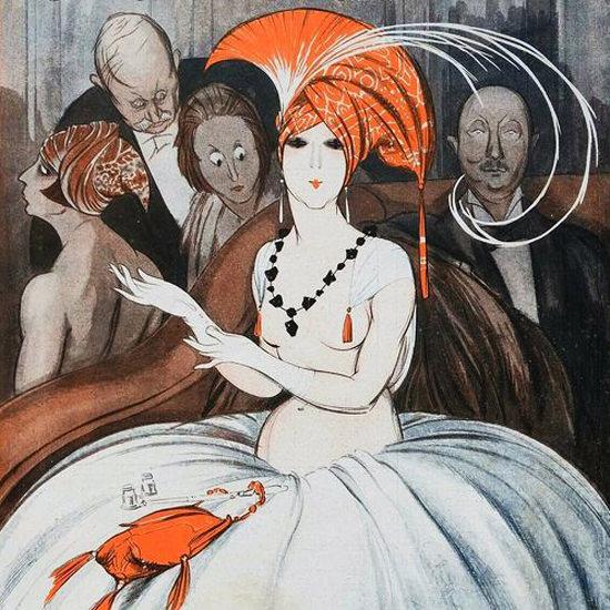 La Vie Parisienne 1919 Communique Mondain Armand Vallee crop | Best of Vintage Cover Art 1900-1970