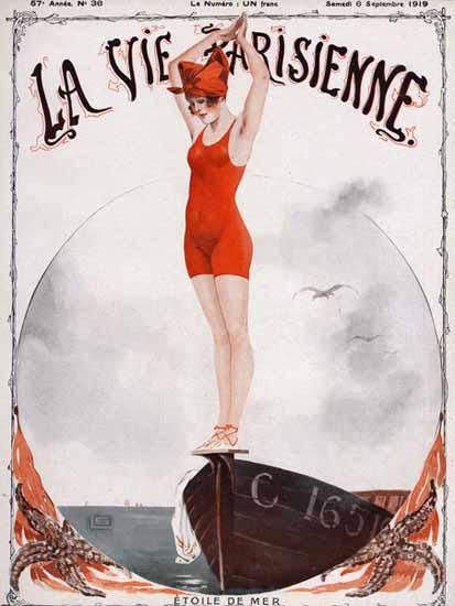 La Vie Parisienne 1919 Etoile De Mer Georges Leonnec | La Vie Parisienne Erotic Magazine Covers 1910-1939