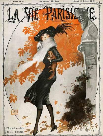 La Vie Parisienne 1919 L Apres-Midi D Un Faune Georges Leonnec | La Vie Parisienne Erotic Magazine Covers 1910-1939