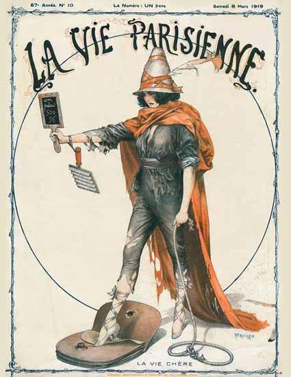 La Vie Parisienne 1919 La Vie Chere Cheri Herouard | La Vie Parisienne Erotic Magazine Covers 1910-1939