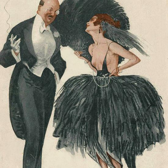 La Vie Parisienne 1919 Le Beau Gosse Georges Leonnec crop | Best of Vintage Cover Art 1900-1970