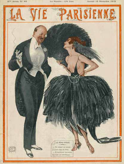La Vie Parisienne 1919 Le Beau Gosse Sex Appeal | Sex Appeal Vintage Ads and Covers 1891-1970