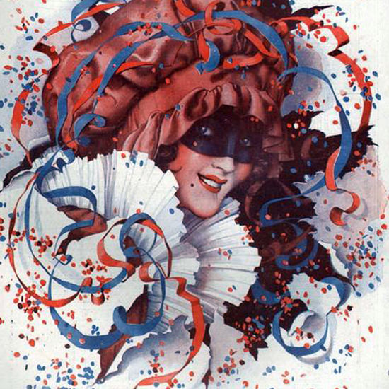 La Vie Parisienne 1919 Le Carnaval De 1919 Leo Fontan crop   Best of Vintage Cover Art 1900-1970