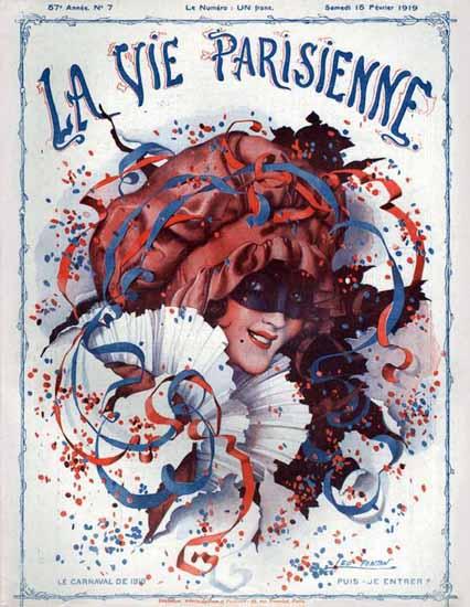 La Vie Parisienne 1919 Le Carnaval De 1919 Leo Fontan   La Vie Parisienne Erotic Magazine Covers 1910-1939