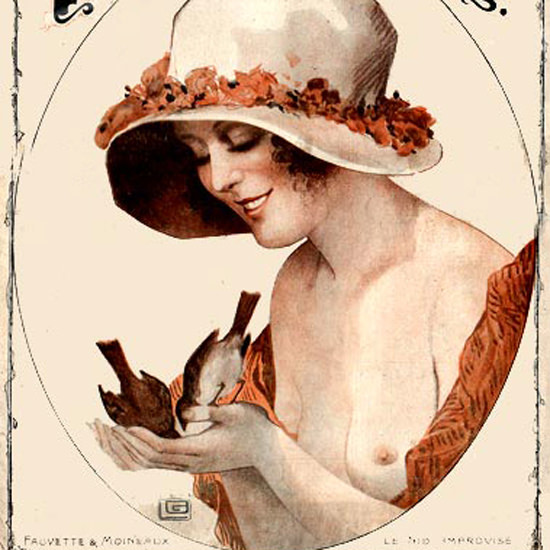 La Vie Parisienne 1919 Le Nid Improvise Georges Leonnec crop | Best of Vintage Cover Art 1900-1970