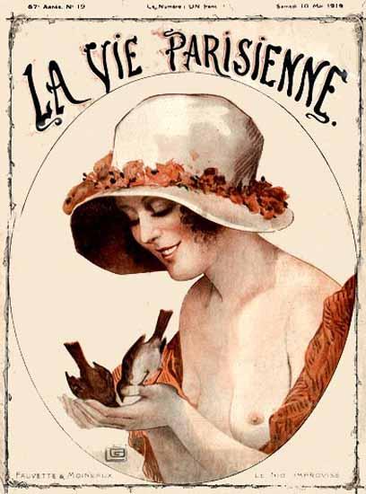 La Vie Parisienne 1919 Le Nid Improvise Georges Leonnec | La Vie Parisienne Erotic Magazine Covers 1910-1939