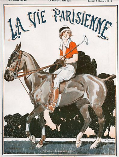 La Vie Parisienne 1919 Le Polo Rene Vincent | La Vie Parisienne Erotic Magazine Covers 1910-1939