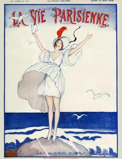 La Vie Parisienne 1919 Les Oiseaux Blancs Sex Appeal | Sex Appeal Vintage Ads and Covers 1891-1970