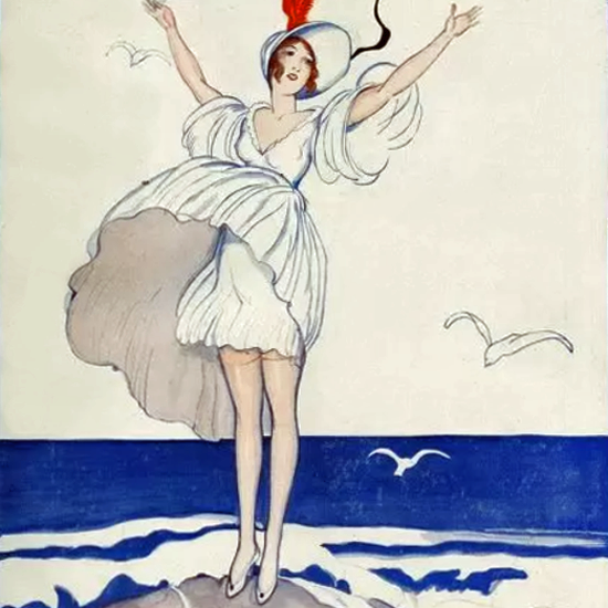 La Vie Parisienne 1919 Les Oiseaux Blancs Zyg Brunner crop | Best of Vintage Cover Art 1900-1970