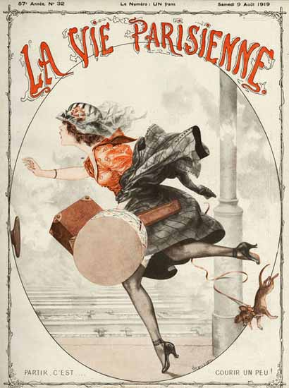 La Vie Parisienne 1919 Partir Courir Un Peu Sex Appeal | Sex Appeal Vintage Ads and Covers 1891-1970