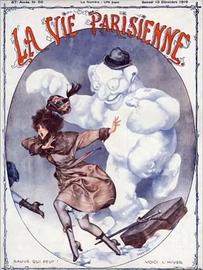 La Vie Parisienne 1919 Sauve Qui Peut Cheri Herouard | La Vie Parisienne Erotic Magazine Covers 1910-1939