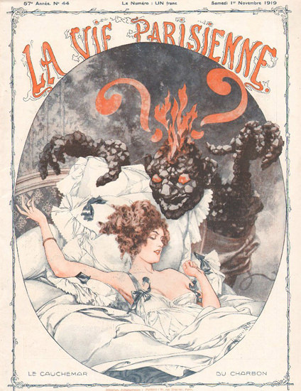 La Vie Parisienne 1919 Sleeping Girl Cauchemar | Sex Appeal Vintage Ads and Covers 1891-1970