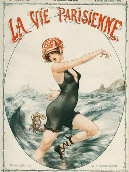La Vie Parisienne 1919 Un Pince Sans Rire Cheri Herouard | La Vie Parisienne Erotic Magazine Covers 1910-1939