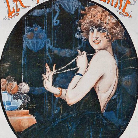La Vie Parisienne 1919 Une Toilette Tres Habillee Rene Vincent crop | Best of Vintage Cover Art 1900-1970