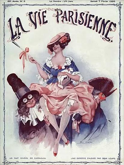 La Vie Parisienne 1920 Carnaval Leo Fontan   La Vie Parisienne Erotic Magazine Covers 1910-1939