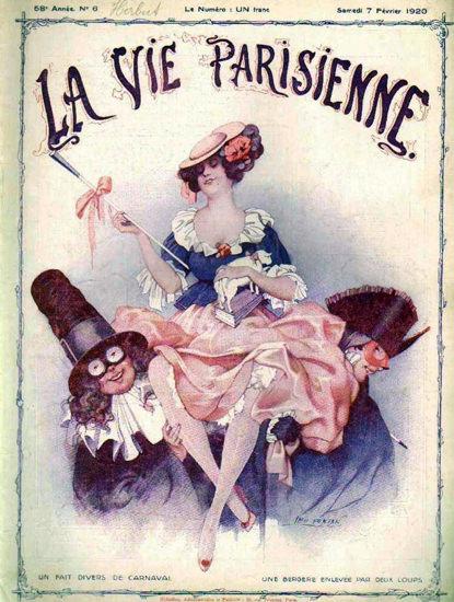 La Vie Parisienne 1920 Carnaval Magazine Paris   Sex Appeal Vintage Ads and Covers 1891-1970