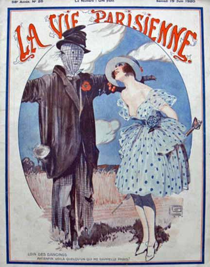 La Vie Parisienne 1920 Dancings Georges Leonnec   La Vie Parisienne Erotic Magazine Covers 1910-1939
