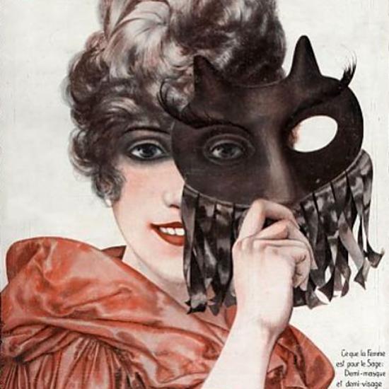 La Vie Parisienne 1920 Demi-Visage Cheri Herouard crop | Best of Vintage Cover Art 1900-1970