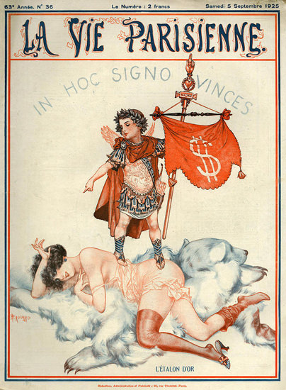 La Vie Parisienne 1925 In Hoc Signo Vinces | Sex Appeal Vintage Ads and Covers 1891-1970