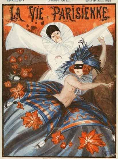 La Vie Parisienne 1920 Janvier 24 Armand Vallee   La Vie Parisienne Erotic Magazine Covers 1910-1939