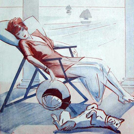 La Vie Parisienne 1920 L Inutile Ete Rene Prejelan crop | Best of 1920s Ad and Cover Art
