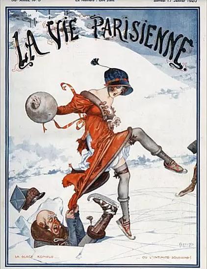 La Vie Parisienne 1920 La Glace Rompue Cheri Herouard   La Vie Parisienne Erotic Magazine Covers 1910-1939