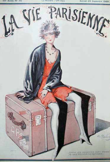 La Vie Parisienne 1920 Les Vacances Sont Finies Sex Appeal | Sex Appeal Vintage Ads and Covers 1891-1970