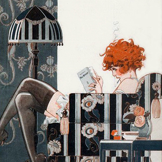 La Vie Parisienne 1920 Mon Amour Rene Vincent crop | Best of Vintage Cover Art 1900-1970