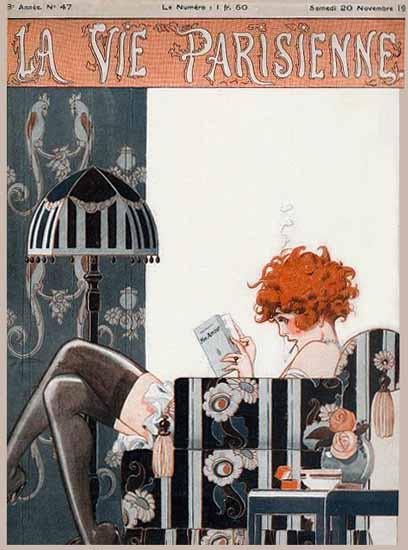 La Vie Parisienne 1920 Mon Amour Rene Vincent | La Vie Parisienne Erotic Magazine Covers 1910-1939