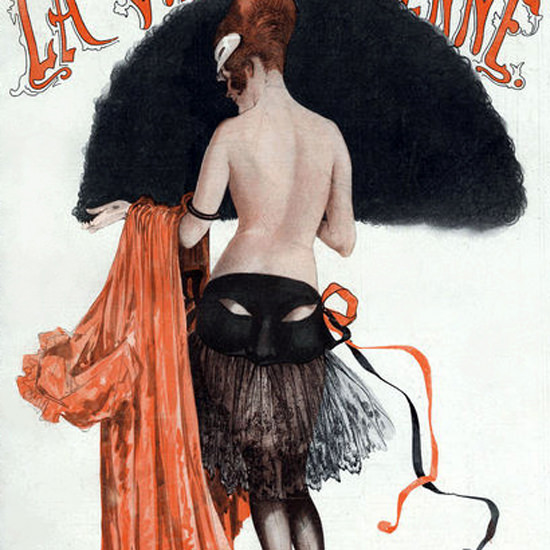 La Vie Parisienne 1920 Nude MamZelle Tartuffe Georges Leonnec crop | Best of 1920s Ad and Cover Art