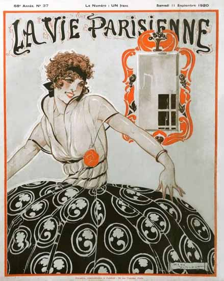 La Vie Parisienne 1920 Septembre 11 Rene Vincent | La Vie Parisienne Erotic Magazine Covers 1910-1939