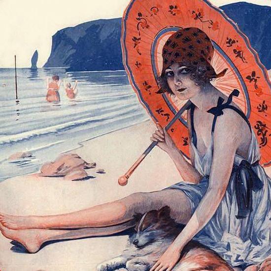 La Vie Parisienne 1921 Anticipation Reve D Ete Maurice Milliere crop | Best of Vintage Cover Art 1900-1970