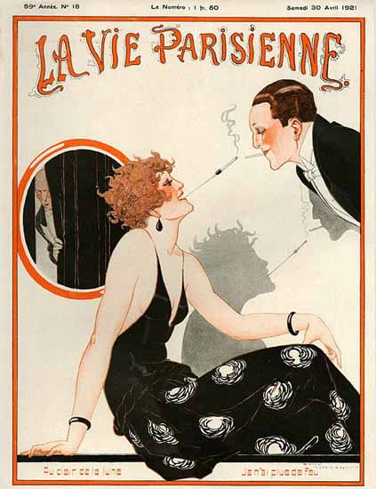 La Vie Parisienne 1921 Au Clair De La Lune Sex Appeal | Sex Appeal Vintage Ads and Covers 1891-1970