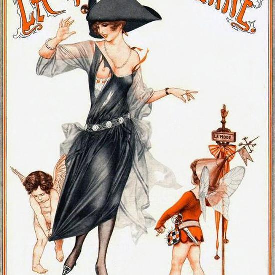 La Vie Parisienne 1921 Cachez Vos Jambes Cheri Herouard crop | Best of 1920s Ad and Cover Art