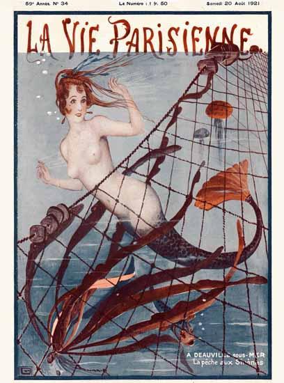 La Vie Parisienne 1921 Deauville Georges Leonnec Sex Appeal | Sex Appeal Vintage Ads and Covers 1891-1970