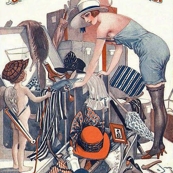 La Vie Parisienne 1921 Inutile D Insister Georges Pavis crop | Best of 1920s Ad and Cover Art