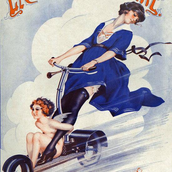 La Vie Parisienne 1921 L Amour Est Mon Moteur Leo Fontan crop | Best of Vintage Cover Art 1900-1970