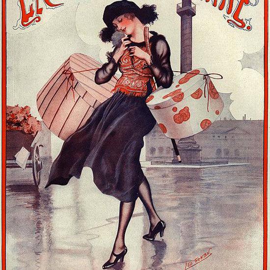 La Vie Parisienne 1921 La Botanique Des Demoiselles Leo Fontan crop | Best of Vintage Cover Art 1900-1970