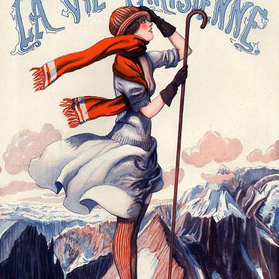 La Vie Parisienne 1921 La Tour Eiffel Georges Pavis crop | Best of Vintage Cover Art 1900-1970