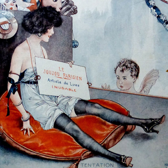 La Vie Parisienne 1921 Le Joujou Parisien Cheri Herouard crop | Best of Vintage Cover Art 1900-1970